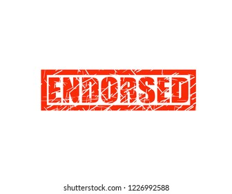 Endorsed red stamp