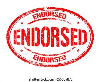 Endorsed sign or stamp on white background, vector illustration