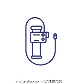 endoscope, endoscopy, colonoscopy tool line icon