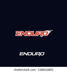 Enduro logo vector design. Dirt splash. Extreme off road motorcycle, dirt bike, motocross bike or mountain bike logotype template.