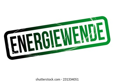 Energiewende - Bicolored Concept with the German Word