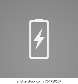 Energy charge sign. Flat charger icon illustration