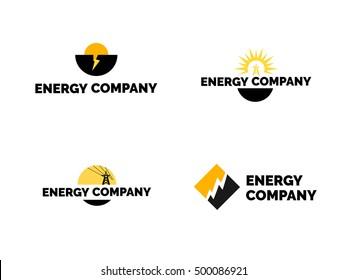 Energy company logo set