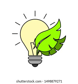Energy conservation concept. Isolated on white background. Flat style.