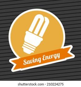 energy design over background vector illustration