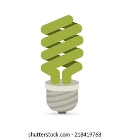 Energy design over white background, vector illustration