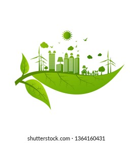 Energy development, Environmental and Ecology concept, Vector illustration