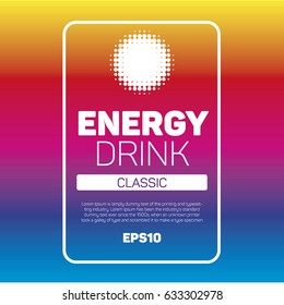 Energy drink label background
