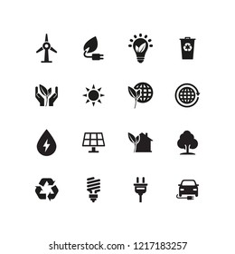 ENERGY AND ECO ICON SET