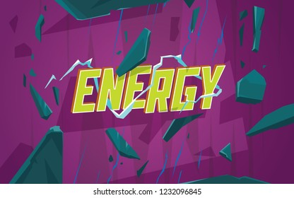 Energy effect. Template banner for your design