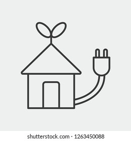 Energy Efficency Modern Simple Vector Icon