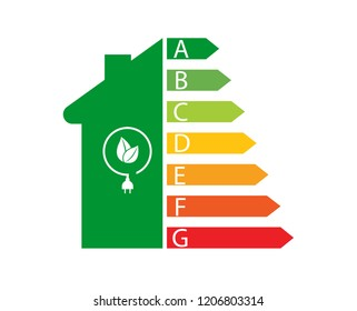 Energy efficiency and home improvement concept.Vector illustration.