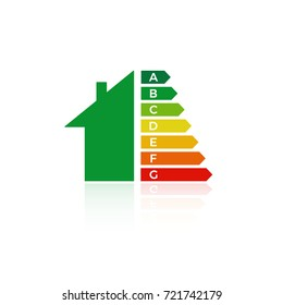 energy  efficiency  house icon   eco chart vector