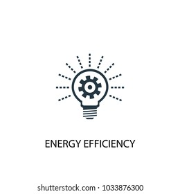 Energy efficiency icon. Simple element illustration. Energy efficiency symbol design from Alternative energy collection. Can be used for web and mobile.