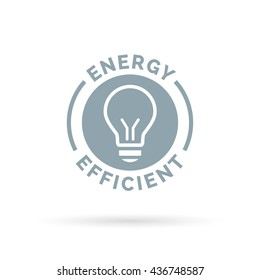 Energy efficient eco icon lightbulb symbol design. Vector illustration.