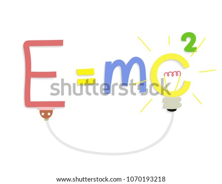 energy formula on white