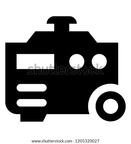 Energy Generator Use Homes Events Stock Vector (Royalty Free