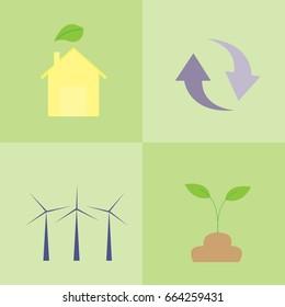 energy icon design.concept save the world