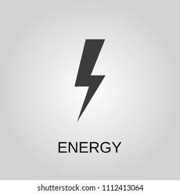 Energy icon. Energy symbol. Flat design. Stock - Vector illustration