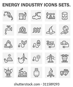 Energy industry icons sets.