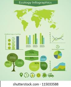 Energy info graphics design elements