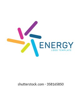 Energy logo. Power logo. Spiral logo. Technology logo