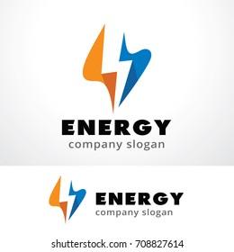 Energy Logo Template Design Vector, Emblem, Design Concept, Creative Symbol, Icon