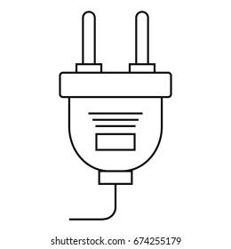 energy plug isolated icon