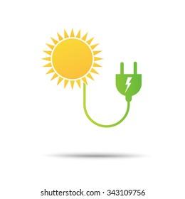 energy power eco icon
