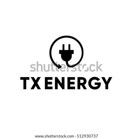 Energy Power Electric Electrician Plug Logo Stock Vector Royalty