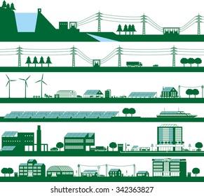 Energy. Power grid.
