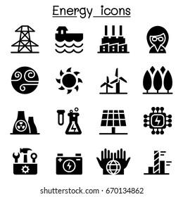 Energy & Power supply icons