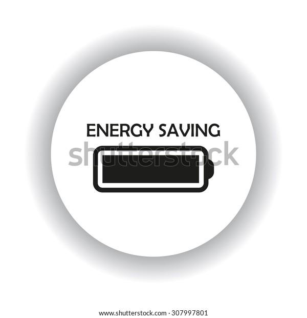 energy saving battery. icon. vector design