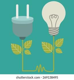 Energy Saving design over blue background, vector illustration