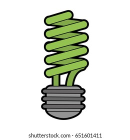 energy saving lightbulb eco friendly related icon image