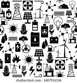 energy seamless pattern icon background.