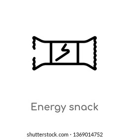 energy snack vector line icon. Simple element illustration. energy snack outline icon from gym and fitness concept. Can be used for web and mobile