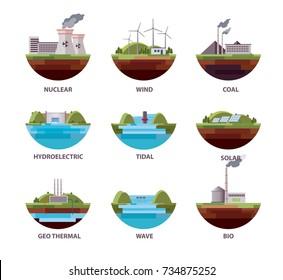 Energy Sources Illustration