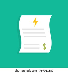 Energy utility bills. Vector illustration
