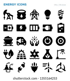 Energy Vector Icon Set