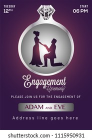 Engagement Invitation Card Template Stock Illustrations Images