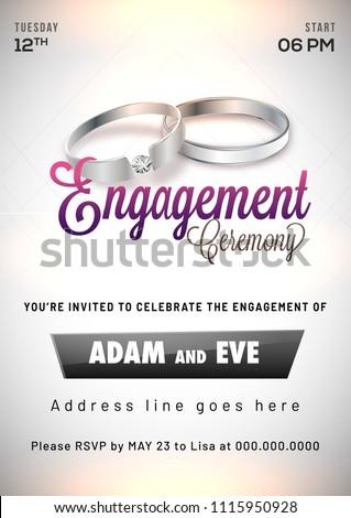 engagement invitation card design - Engagement Invitation Card