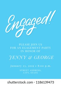 Engagement party invitation template.