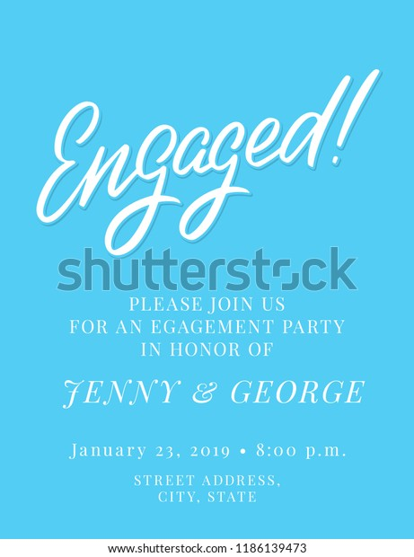Engagement Party Invitation Template Stock Vector (Royalty ...