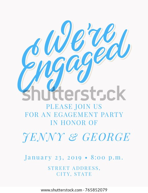 Engagement Party Invitation Template Stock Vector Royalty Free