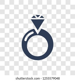 Engagement Ring Icon Trendy Linear Engagement Stock Vector Royalty