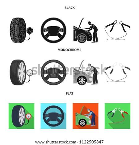engine adjustment steering wheel clamp wheel stock vector royalty