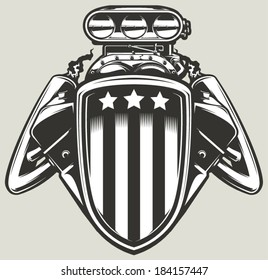 Engine emblem