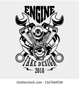 engine for garage logo