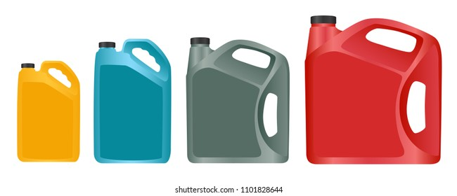 Engine oil canister isolated on white background. Graphic vector